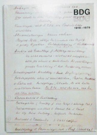BDG 1919-1979 – Mitteilungen – Sonderausgabe Nr. 60.