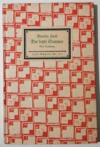 Der letzte Sommer – Eine Erzählung in Briefen – Insel-Bücherei 172.