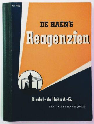 De Haën´s Reagenzien Preisliste R.2/1952.