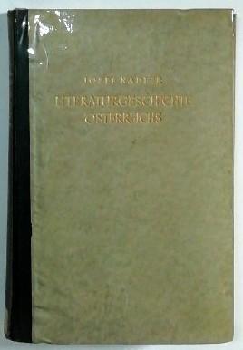 Literaturgeschichte Österreichs.