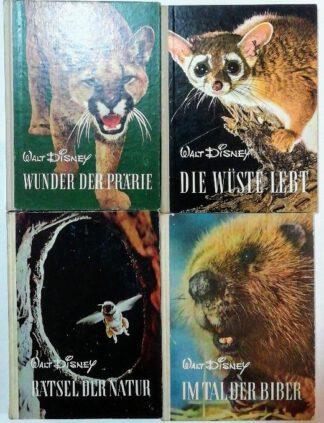 Konvolut Entdeckungsreisen im Reiche der Natur – Walt Disney [4 Bände].