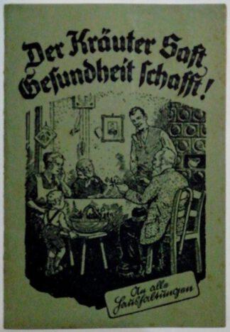Broschüre Kräutermayer – Der Kräuter Saft Gesundheit schafft.