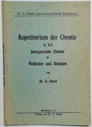 Repetitorium der Chemie II. Teil – Anorganische Chemie für Mediziner und Biologen.
