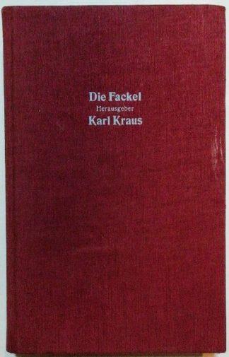 Die Fackel -Band 12 – Die letzten Tage der Menschheit. Personenregister zur Fackel Nr. 1 bis 922.