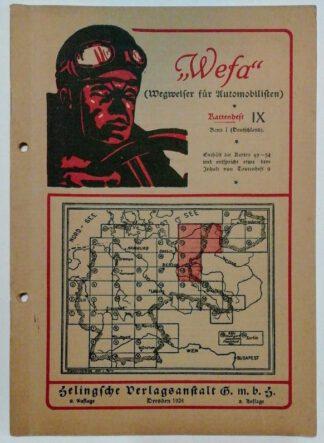 Wefa – Wegweiser für Automobilisten – Kartenheft IX.