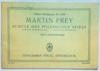 Schule des polyphonen Spiels – Heft 1 – Klavierbüchlein.