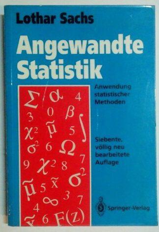 Angewandte Statistik –  Anwendung statistischer Methoden.