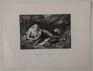 Batoni: Magdalena – Stahlstich 1871