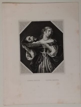 Carlo Dolci: Herodias Tochter – Stahlstich 1871