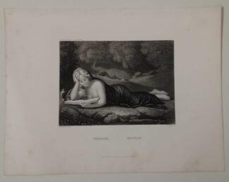 Correggio: Magdalena – Stahlstich 1871
