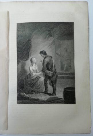 Stahlstich aus Lederstrumpf-Erzählungen von James Fenimore Cooper, 1864