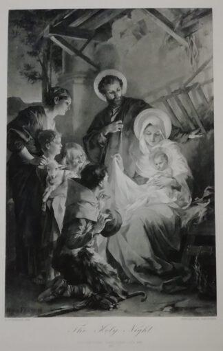 M. Feuerstein: Die heilige Nacht – Photogravure 1892