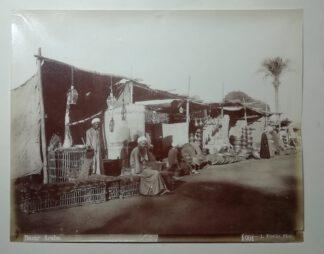 Fiorillo, Luigi: Bazar Arabe – Arabischer Basar – Abzug auf Albuminpapier 1890