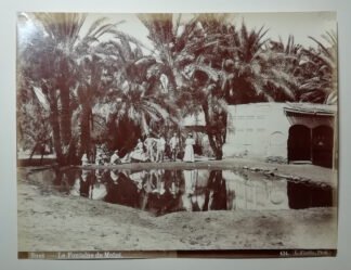 Fiorillo, Luigi: Suez – La Fontaine de Moisé – Die Mosesquelle – Abzug auf Albuminpapier 1890