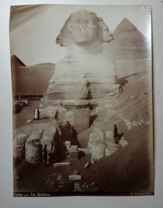 Fiorillo, Luigi: Caire – Le Sphinx – Kairo – Die Sphinx – Abzug auf Albuminpapier 1890