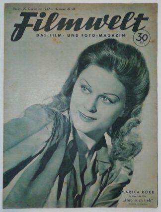 Filmwelt – Das Film- und Foto-Magazin 23. Dezember 1942 – Nr. 47/48.