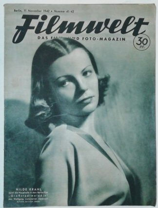 Filmwelt – Das Film- und Foto-Magazin 11. November 1942 – Nr. 41/42.