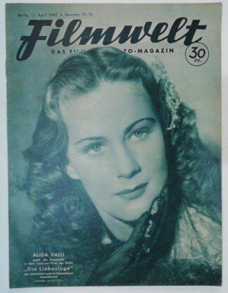 Filmwelt – Das Film- und Foto-Magazin 15. April 1942 – Nr. 15/16.