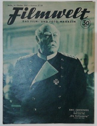 Filmwelt – Das Film- und Foto-Magazin 14. Oktober 1942 – Nr. 37/38.