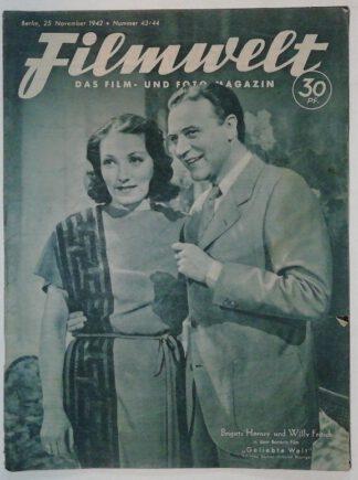 Filmwelt – Das Film- und Foto-Magazin 25. November 1942 – Nr. 43/44.