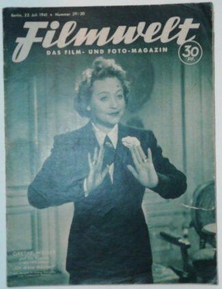 Filmwelt – Das Film- und Foto-Magazin 23. Juli 1941 – Nr. 29/30.