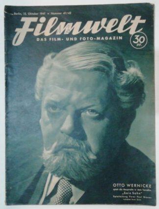 Filmwelt – Das Film- und Foto-Magazin 15. Oktober 1941 – Nr. 41/42.