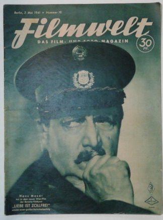 Filmwelt – Das Film- und Foto-Magazin 2. Mai 1941 – Nr. 18.