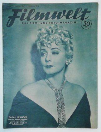 Filmwelt – Das Film- und Foto-Magazin 21. Januar 1942 – Nr. 3/4.