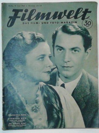 Filmwelt – Das Film- und Foto-Magazin 11. Juni 1941 – Nr. 23/24.