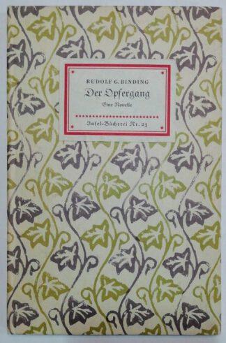 Der Opfergang – Eine Novelle [Insel-Bücherei Nr. 23].
