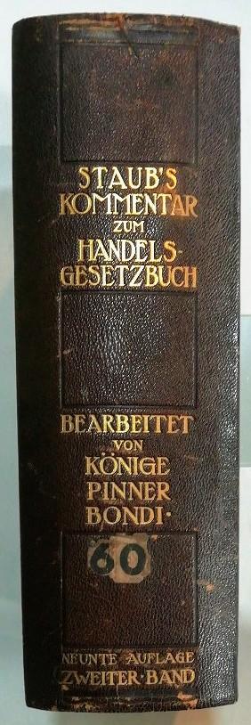 Staub's Kommentar zum Handelsgesetzbuch – Zweiter Band – Buch 3: Handelsgeschäfte.
