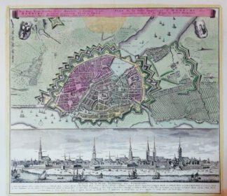 Plan Des Heil. Röm. Reichs freye Handels-und Hansee Stadt Hamburg 1742 – Reproduktion.