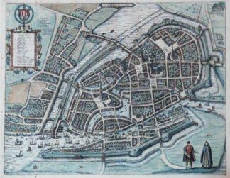 Plan Hamburgum [Hamburg] um 1580 – Reproduktion.