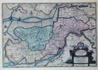 Territoria Eyderstede Everschop et Utholm 1648 – Reproduktion.