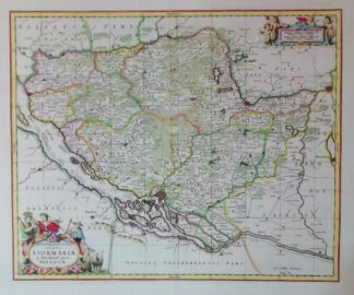 Tabula Geographica novissima Ducatus Stormariae in Meridionali parte Holsatiae um 1700 – Reproduktion