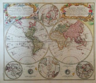 Planiglobii Terrestris Mappa Universalis – Weltkarte 1746 – Reproduktion.