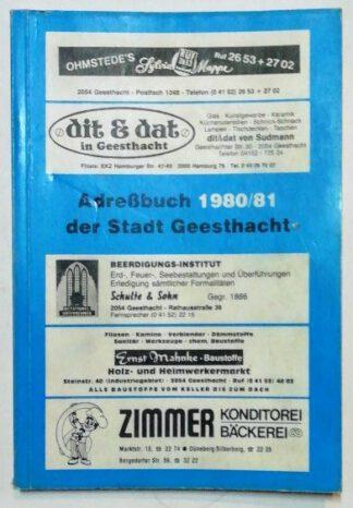 Adreßbuch der Stadt Geesthacht 1980/81.