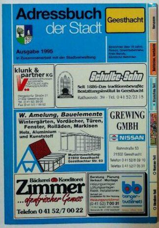 Adreßbuch der Stadt Geesthacht 1995.
