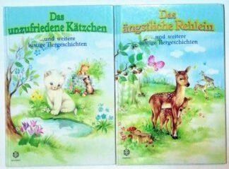 Das unzufriedene Kätzchen – Das ängstliche Rehlein und weitere lustige Tiergeschichten [2 Bände].