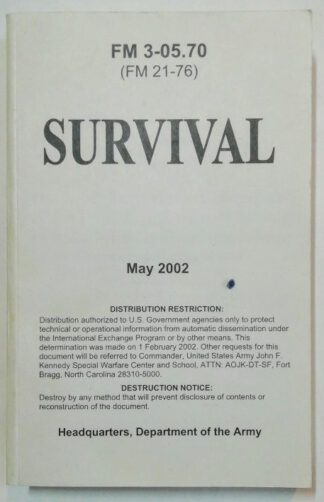 Field Manual 3-05.70 – Survival.