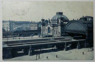 Ansichtskarte Dresden Hauptbahnhof [gelaufen].