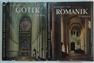 Baukunst der Gotik in Europa – Baukunst der Romanik in Europa [2 Bände].